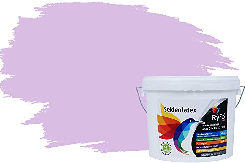 RyFo Colors Seidenlatex Trend Rottöne Rosenholz 6l - bunte Innenfarbe, weitere Rot Farbtöne und Größen erhältlich, Deckkraft Klasse 1
