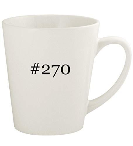 #270-12oz Hashtag Ceramic Latte Coffee Mug Cup, White