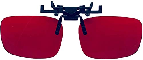 Color Blind Glasses Flippable Clip On Lens - Color Blind Correction for Red Green - Glasses for Color Blind People for Deutan and Protan - Life Changing Tell The Difference