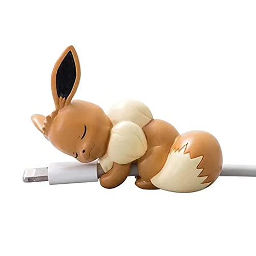 QQWA Pokemon Figura de dibujos animados Animación Imagen Creativa Cable de Datos Cubierta Protectora Universal Cargador Anti-Romper Cuerda Regalo de Cumpleaños