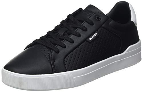 Antony Morato Sneaker Rod SFODERATA IN Faux Leather Punched, Oxford Plano Hombre, Negro, 42 EU