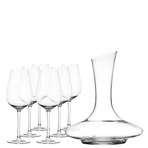 Leonardo Tivoli, 032818, karaf en wijnglazen in modern design, set van 7 stuks