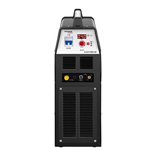 Stamos Welding Plasmaschneider Plasmaschneidgerät Schweißgerät S-CUTTER 40 (14-40 A, 230 V, Einschaltdauer 60%, Schneidleistung bis 12 mm, digitale Schneidstromanzeige, 2T/4T) - 5