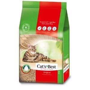 Cats Best OkoPlus - Lettiera per gatti in granuli di legno organico, 100% compostabile e biodegradabile, 30 l