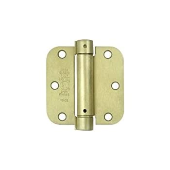 Deltana DSH35R5U10B 3.5 x 3.5 Mortise Spring Hinge with 5//8 Radius Corners Pack Of 2