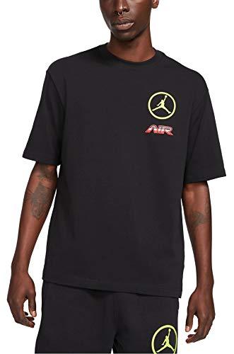 Nike - M j SPRT Dna Tee col 010 CV2993 Negro/naranja. L