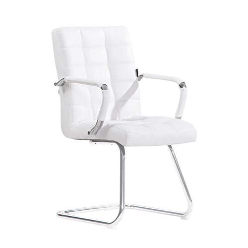 Household Computerstoel, wit, leer, bureaustoel, comfort, ontvangststoel, zitstoel, studentenstoel, zitbank, zitting, stoel draaibaar, zitting 91*45CM Zwart