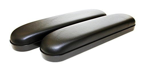 AR011P - One Pair of Black Desk Length Vinyl Armrests for wheelchairs, Please Measure Before Buying