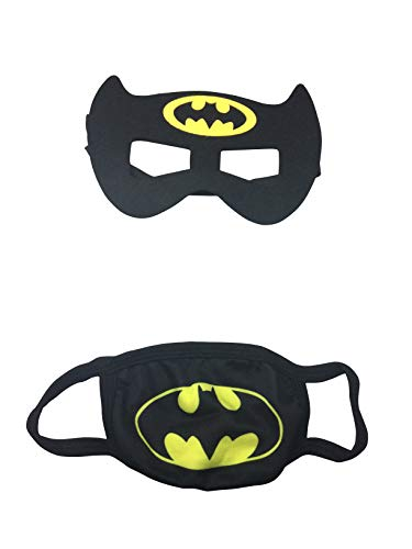 Superhero Face Mask,Safety Face Mask for Boys, Kids Cartoon Face Mask Comfortable and Reusable Mask. (Batman)