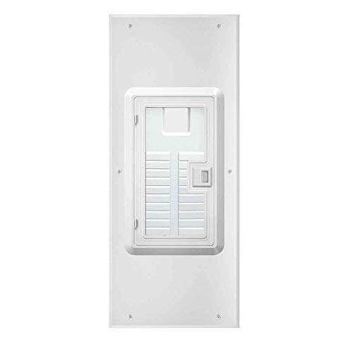 Leviton LDC20-W 20-Space Indoor Load Center Cover and Door with Observation Window, NEMA 1, Flush/Surface Mount
