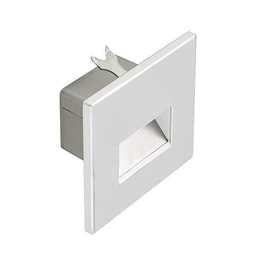 s.LUCE LED-Wandeinbauleuchte Box Weiß-Matt 230V inkl. Leuchtmittel
