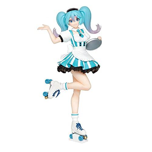 Figura De Acción De Sirvienta De Café con Polea De Anime Hatsune Miku, Juguetes De Decoración De Muñecas Modelo De PVC Regalos para Niños Adultos 20Cm