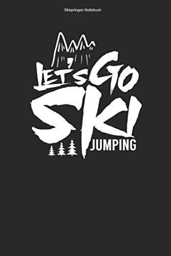 Skispringen Notizbuch: 100 Seiten | Punkteraster | Ski Sprung Skispringen Springer Schanze Ski Springen Skisprungschanze Skispringer Skier Geschenk Skischanze Team Skisprung