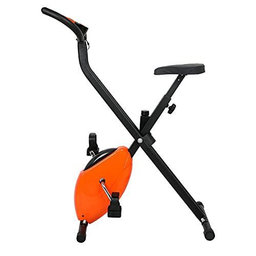 CJDM Cyclette da Interno Pieghevoli, Bici da Spinning da casa, Bici da Ufficio, Attrezzi per l'allenamento della Palestra Aziendale. Dimensioni: 65 * 40 * 110 cm