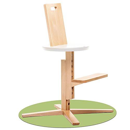 Froc Kinderstoel, hout, die met je kinderen groeit, 2 maanden tot 10 jaar, voor Imagination baby-inzet, bekroonde kinderstoel, beste ergonomie en uniek design, 100% natuurlijk hout wit-zwart