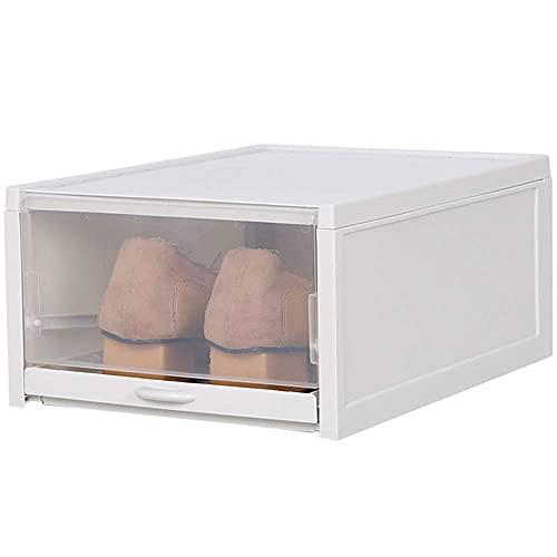 LAMZH 1 unids/set espesado Flip zapatos transparente cajón caja de plástico cajas de zapatos apilables caja de almacenamiento de zapatos organizador