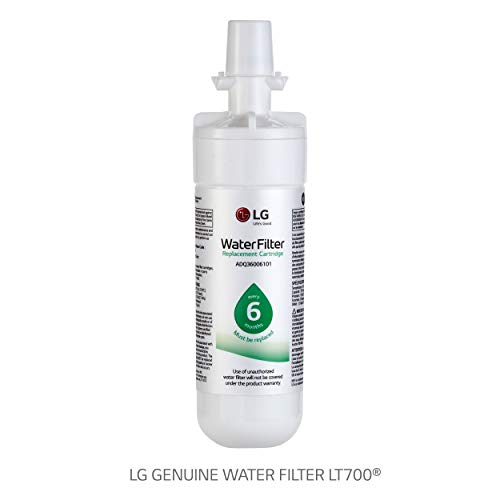 LG LT700P Replacement 200 Gallon Capacity Refrigerator Water Filter (ADQ36006101)