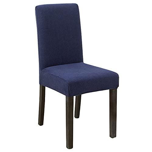 Fundas elásticas para silla de comedor, forro polar, fundas de silla de respaldo alto, fundas protectoras para sillas gruesas para banquetes de boda, fiesta (azul marino, 2 unidades)