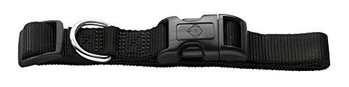 HUNTER Ecco Sport Vario Basic Hundehalsung, Nylon, mit Klickverschluss, M-L, schwarz