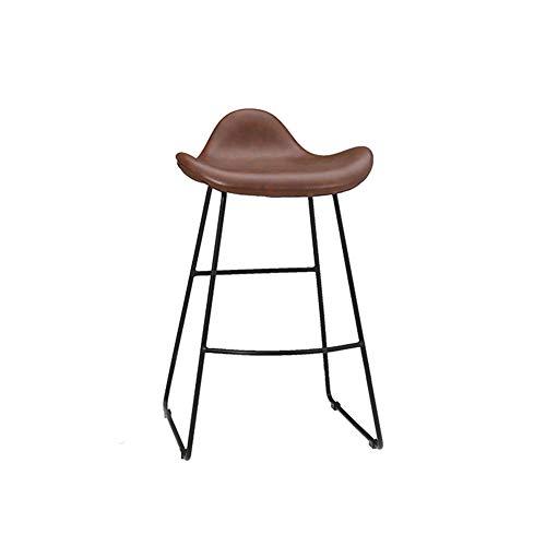 Reckstoel, moderne toonstoel, juwelierkruk, boekenstoel, metaal materiaal, geschikt voor verschillende gelegenheden, zuiver bruin