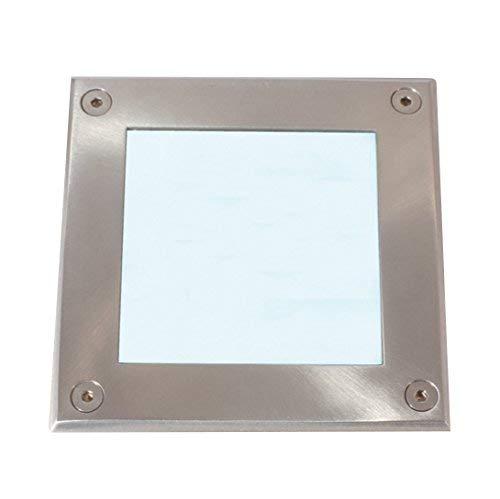 Lampenlux Tudor IP67 230 V Spot LED encastrable au sol carré en acier inoxydable 12 cm