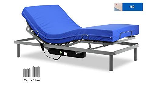 Gerialife® Cama articulada con colchón Sanitario HR Impermeable (90x190)
