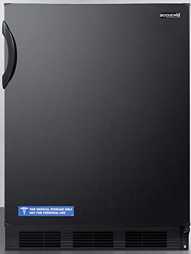 Summit Appliance FF6BK Freestanding Counter Height 24' Wide All-Refrigerator for General Purpose Use with Automatic Defrost, Door Storage, Adjustable Thermostat and Black Exterior