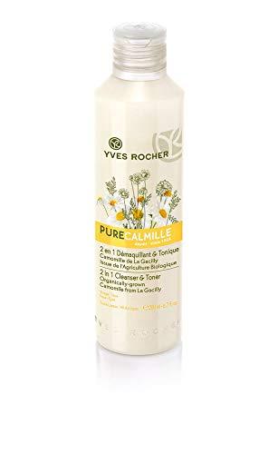 Yves Rocher PURE CALMILLE 2in1 Reinigung + Lotion, Reinigungsmilch mit Bio-Kamille, für jede Haut, 1 x Flacon 200 ml