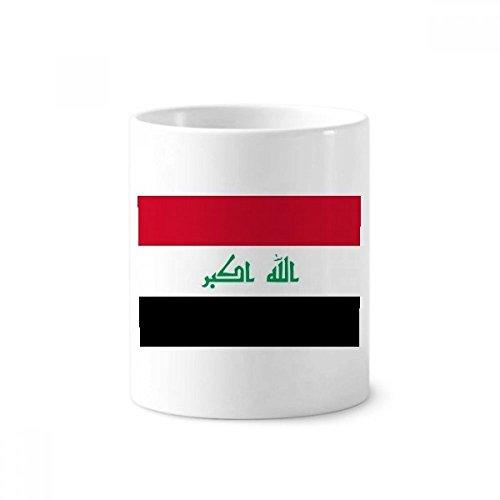 DIYthinker Irakese Nationale Vlag Azië Land Keramische Tandenborstel Pen Houder Mok Wit Cup 350ml Gift 9,6 cm hoog x 8,2 cm diameter