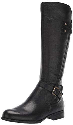 Naturalizer Women's Jackie Knee High Boot, Black Leather, 7.5 Wide
