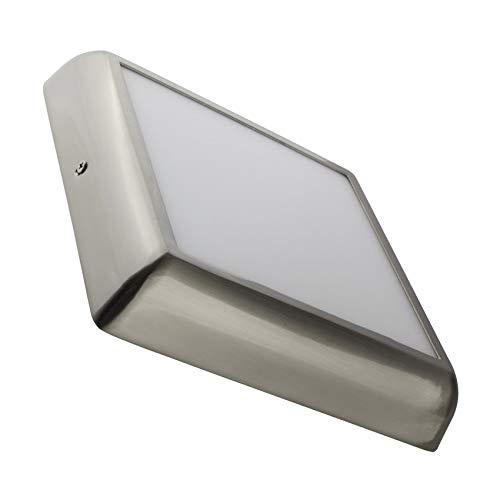 Plafón LED 18W Cuadrado Design Plateado instalación en superficie (K3000)