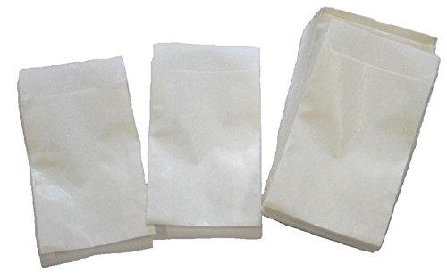 Papiertüten weiß flach 5,3x7,8cm (600St.) von BLÜHKING®