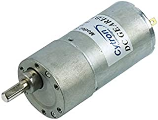 12V Brush DC Motor Reduction Geared 24/45/75/200RPM (Gear Ratio: 60:1)