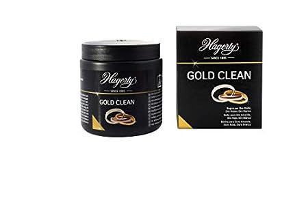Hagerty Gold Clean BAÑO PARA ORO 170ml I Limpieza por inmersión eficaz para joyas de oro amarillo blanco rosa y rojo I Baño limpiador de joyas con cesta para renovar el brillo I Limpieza instantánea