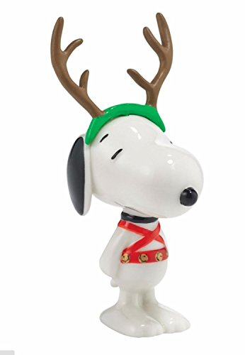 Department 56 Peanuts Snoopy By Design 'Sled Dog' Christmas Figurine #4044965