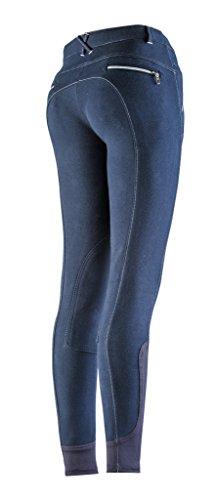 Equi-Theme/Equit'M 979201736 - Pantaloni da Equitazione Unisex con Chiusura Lampo, Taglia Unica, Colore: Blu Marino/Bianco