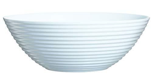 Luminarc 06453Harena ensaladera de Cristal (27cm), Color Blanco, 27x 27x 10cm