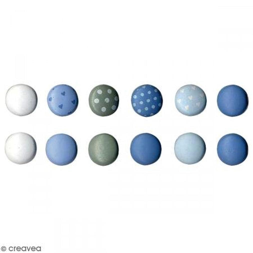 Artemio Set of 60?Baby Boy Mini Brads Round, Metal, Multicoloured, 2?x 10?x 12.5?cm