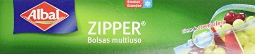 Albal - Zipper - Bolsas multiuso - 8 bolsas - [Pack de 4]