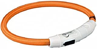 Trixie Flash lichtring USB M - L (45 cm / ø 7 mm) oranje