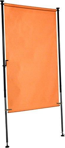 Angerer Balkon Sichtschutz uni orange PE, 150 cm breit, 2319/1005