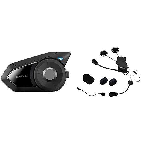 Sena 30k Sistema de comunicación Bluetooth para Motocicleta + Kit de Montaje Universal de Auriculares para 20S/20S EVO/30