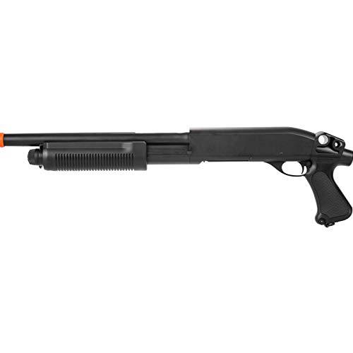 Lancer Tactical M870 Full Metal Tri Shot Airsoft Shotgun Black