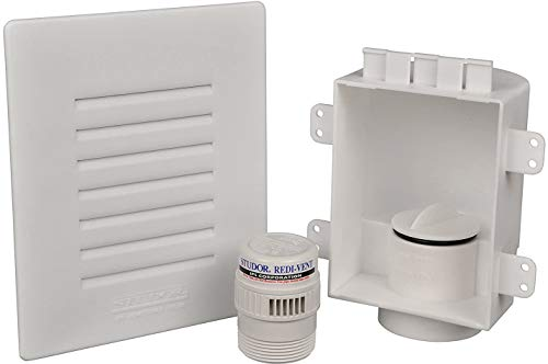 Studor 20381 Redi-Vent Air Admittance Valve with Recessed Box and Grill, White