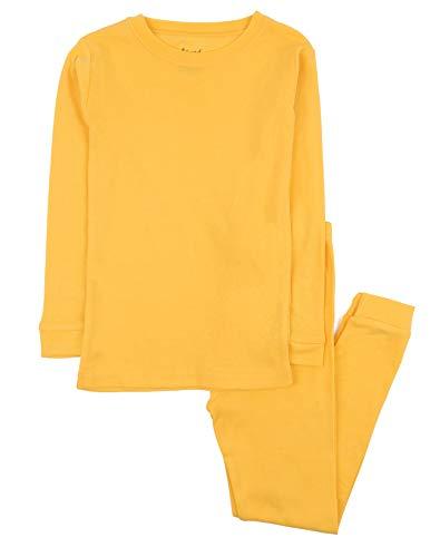 Leveret Kids Pajamas Boys & Girls Solid Yellow 2 Piece Pajama Set 100% Cotton Size 2 Years