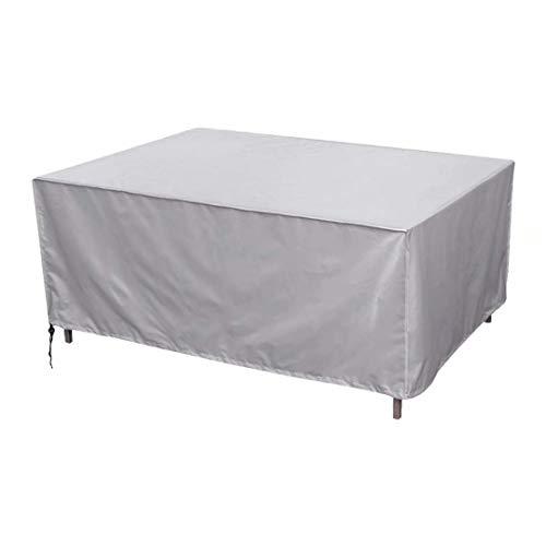 Cobeky Cubre Muebles de Jardin, Impermeable Funda para Mesa, Tela Oxford Resistente al Desgarro Patio Protección, para Mobiliario de Exterior Mesa, Plata, 250 X 210 X 90 cm