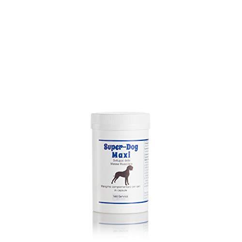 Super-Dog Maxi, conf. 60 cps - Sviluppo Massa Muscolare - Mangime compl. (Integratore) cani taglia grande - Supporto per animali sportivi, stentato sviluppo di cuccioli, ipotrofia post infortunio