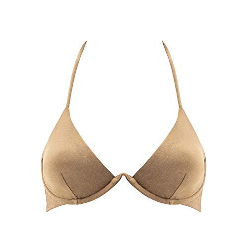 Goldenpoint Reggiseno Bikini con Ferretto Tg. IV - Dark Sand