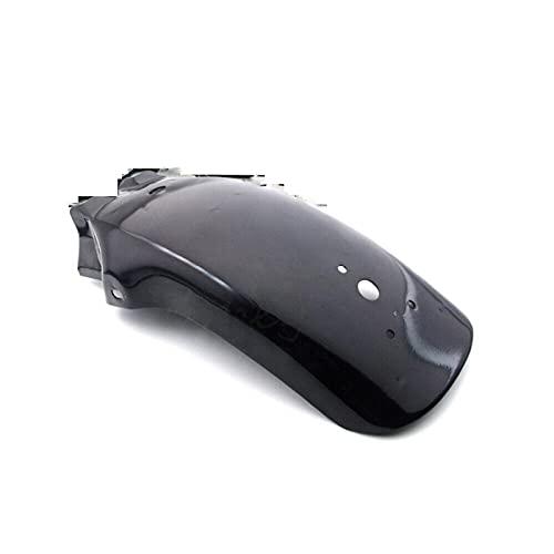 XIOSOIAHOU Guardabarros Motocicleta Trasera de Metal Mudguard Fender ACCESSIO DE Fender para Honda para Yamaha para Chopper Cruiser Accesorios para Motocicletas Frames de Piezas Negro (Color : Black)