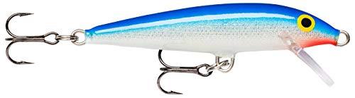 Rapala - Original Floater Angelköder - Angelzubehör aus Balsaholz - Süßwasser Spinnköder - Lauftiefe 0.9-1.5m - Fischköder 9cm, 5g - Hergestellt in Estland - Blue